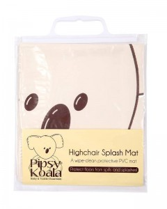 pipsy_koala_highchair splash mat new